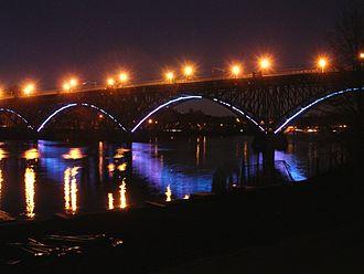 Schuylkill River - The Strawberry Mansion Bridge at dusk