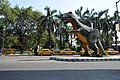 Science City Entrance with Tyrannosaurus rex Statue - John Burdon Sanderson Haldane Avenue - Kolkata 2014-05-02 4591.JPG