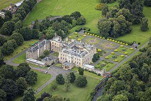 Newbattle Abbey - Image: Scotland 2016 Aerial Newbattle Abbey 03