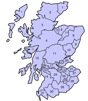 Counties of the United Kingdom - Scottish counties in 1975