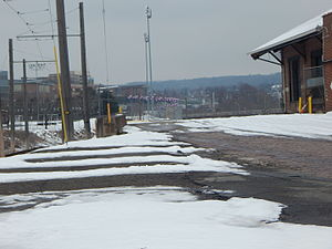 Lackawanna and Wyoming Valley Railroad - The Scranton freight station for the Laurel Line