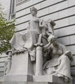"""Sculpture """"Providence as Independent Thought, Flanked by Industry and Education,"""" by John Massey Rhind at the John O. Pastore Federal Building in Providence, Rhode Island LCCN2013634455.tif"""
