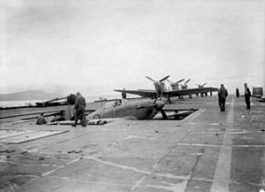 Sea Hurricane and Seafires on HMS Argus (I49) c1942.jpg