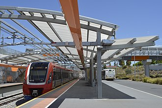 Seaford railway station, Adelaide - The station in January 2018.