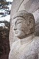 Seated stone statue of Buddha at Samneung-gye Namsan in Gyeongju, Korea 02.jpg
