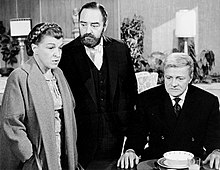 Nancy Walker with Sebastian Cabot and Brian Keith on TV's Family Affair (1970)
