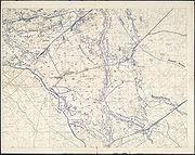 Second Battle of Passchendaele - German Trench Map