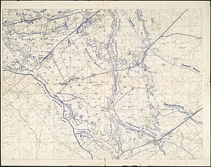 Action of 22 October 1917 - Image: Second Battle of Passchendaele German Trench Map