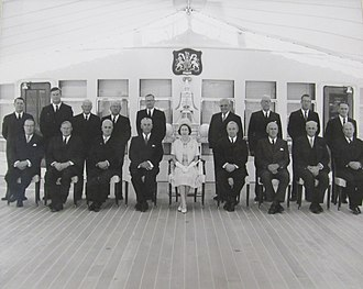 John McAlpine - McAlpine (front row, third from right) in 1963