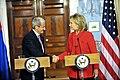 Secretary Clinton Shakes Hands With Slovakian Foreign Minister Dzurinda (5098493840).jpg