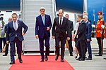 Secretary Kerry Walks with Georgian Foreign Minister Janelidze at the Tbilisi International Airport in Georgia (27510409714).jpg