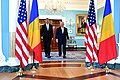 Secretary Tillerson and Romanian President Iohannis Meet Before Reporters in Washington (34356507264).jpg