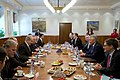 Secretary of Defense Chuck Hagel meets with Israeli Prime Minister Benjamin Netanyahu in Jerusalem, April 23, 2013 (Pic 2).jpg