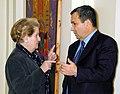 Secretary of State Madeleine K. Albright and Israeli Prime Minister Ehud Barak.jpg