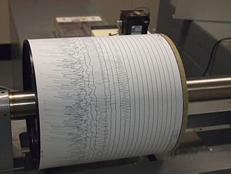 Seismogram - A seismogram being recorded by a seismograph at Weston Observatory in Massachusetts