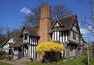 Selly Manor - The House in March 2011. Minworth Greaves can be seen to the rear left.