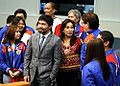 Senators Manny Pacquaio and Loren Legarda with the members of the Philippine Chess Olympiad Team.jpg
