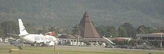 Sentani International Airport - Batavia Air B737-200 parked at Sentani Airport of Jayapura