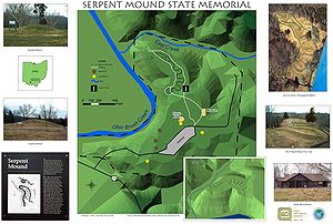 Serpent Mound - A digital GIS map of Ohio's Great Serpent Mound, created by Timothy A. Price and Nichole I. Stump in March 2002