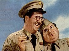 Gosfield as Duane Doberman (right) with Phil Silvers as Ernie Bilko