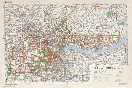 Shanghai in the 1930s, with the Shanghai International Settlement and Shanghai French Concession Shanghai 1935 S1 AMS-WO.jpg