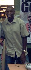 Footballer Shaun Goater at a book signing on 26 September 2006
