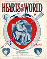 Sheet music cover - HEARTS OF THE WORLD (1918) (variant).jpg