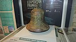 Ship's bell recovered from the HMS Erebus from Frankin's lost expedition, Nattilik Heritage Centre, Gjoa Haven, September 2019.jpg
