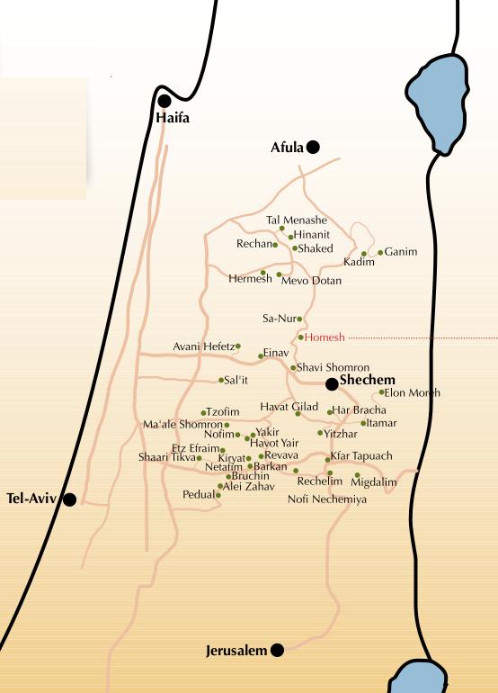 Shomron map
