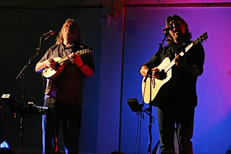 Show of Hands - Show of Hands performing at Harberton, Devon in 2009 (photo: Brian Marks)