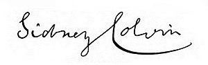 Sidney Colvin - Image: Sidney Colvin's Signature