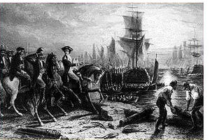 George Washington in the American Revolution - British forces evacuate the city at the end of the Siege of Boston