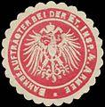 Siegelmarke Bahnbeauftragter bei der Etappen Inspektion 4. Armee W0357353.jpg