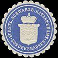 Siegelmarke Fürstl. Schwarzb. Katasteramt Sondershausen W0382455.jpg