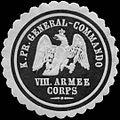 Siegelmarke Königlich Preussisches General - Commando VIII. Armee Corps W0233457.jpg