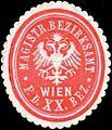 Siegelmarke Magistrat Bezirksamt für den XX. Bezirk Wien W0317910.jpg