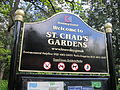 Sign at St Chad's Gardens, Kirkby.jpg