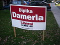 Sign for Liberal Party candidate Dipika Damerla during the Ontario general election - 20110818-02.jpg