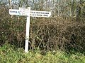 Sign post in country lanes - geograph.org.uk - 1064531.jpg
