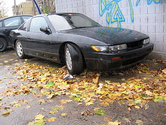 Sileighty - An unofficial Sileighty, that is, a 180SX with a Silvia front-end.