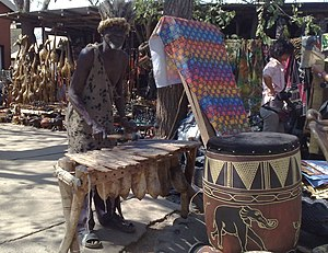 Xylophone - A silimba in a Zambian market