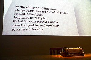 Nominated Member of Parliament - Image: Singapore National Pledge at the National Museum, Singapore 20100720