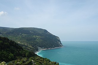 Marche - A view of Monte Conero