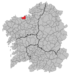 Location of Arteixo within Galicia