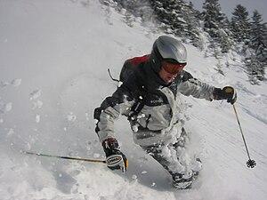 Français : Skieur Freeride. Photo realisée à M...