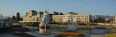 Skopje 2014 - Museum of the Macedonian Struggle and National Theatre.JPG