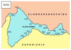 Slavo-Serbia - Image: Slavo serbia map