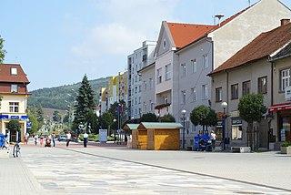 Brezová pod Bradlom Town in Slovakia