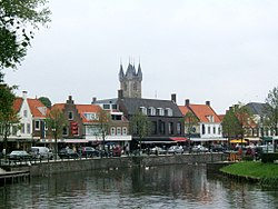 Sluis viewed from canal