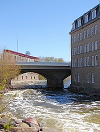 Rideau River in Smiths Falls, Ontario.